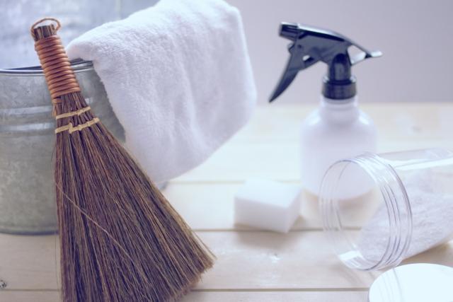 掃除道具はタオル一本から