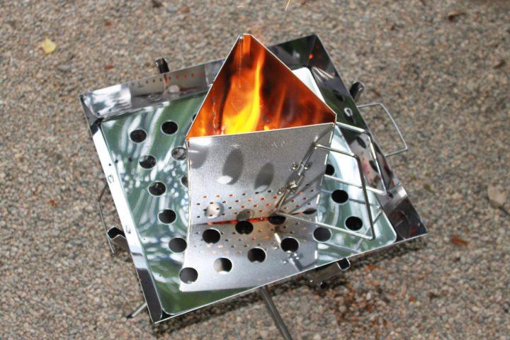 焚き火をする