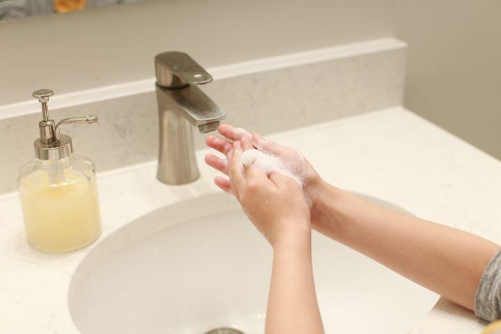 帰宅後は入念に手を洗う
