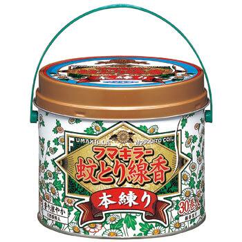 フマキラー蚊とり線香本練り 30巻缶入
